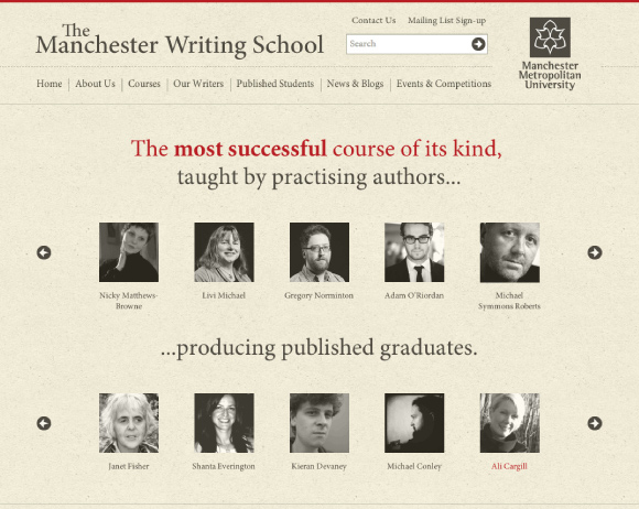 Manchester Creative Writing